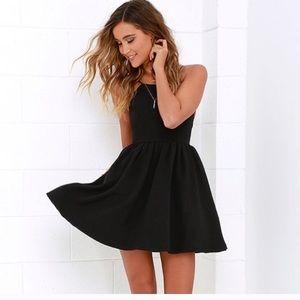 Lulu's Chic Freely black dress backless large